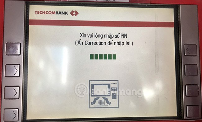 Nhập mật khẩu ATM