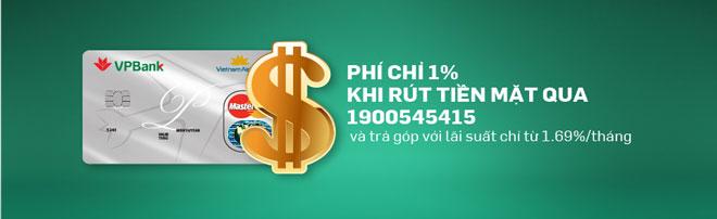 Rút tiền thẻ tín dụng phí thấp