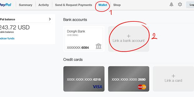 rút tiền từ paypal về ngân hàng
