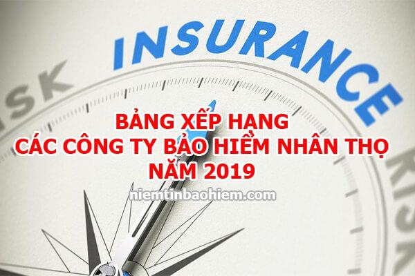 Bảng xếp hạng các công ty bảo hiểm nhân thọ tại Việt Nam năm 2019 1
