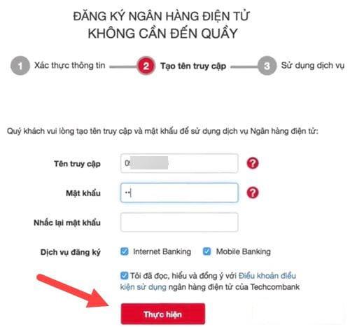 Đăng ký tên đăng nhập cho tài khoản