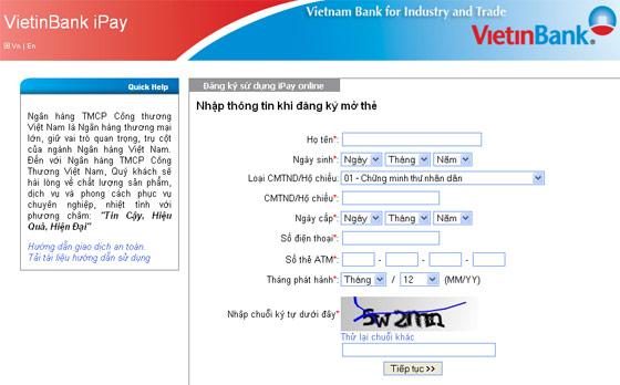 Cách đăng ký Internet Banking Vietinbank trên điện thoại