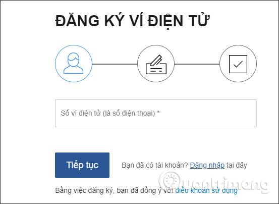 Chuyển tiền trên Ví Việt