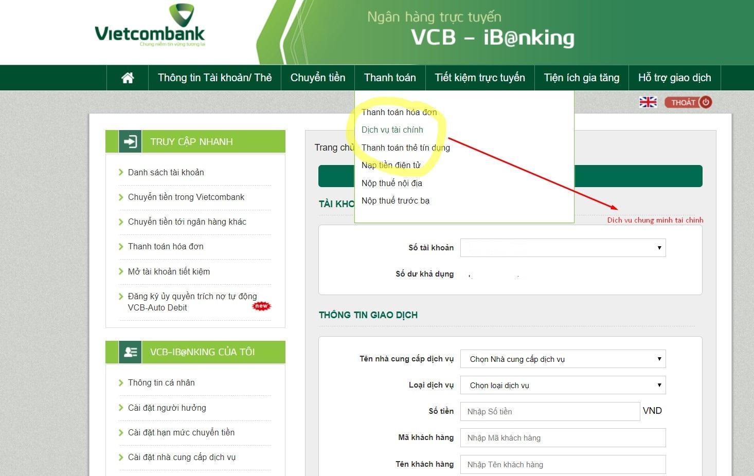 Làm sao để sử dụng dịch vụ chứng minh tài chính Vietcombank? Liên hệ với ai?