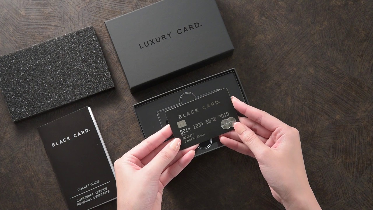 Unboxing the Luxury Card Mastercard Black Card - YouTube