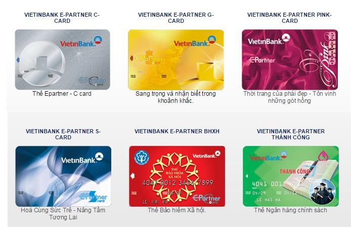 Tính năng của từng loại thẻ ngân hàng Vietinbank là gì?