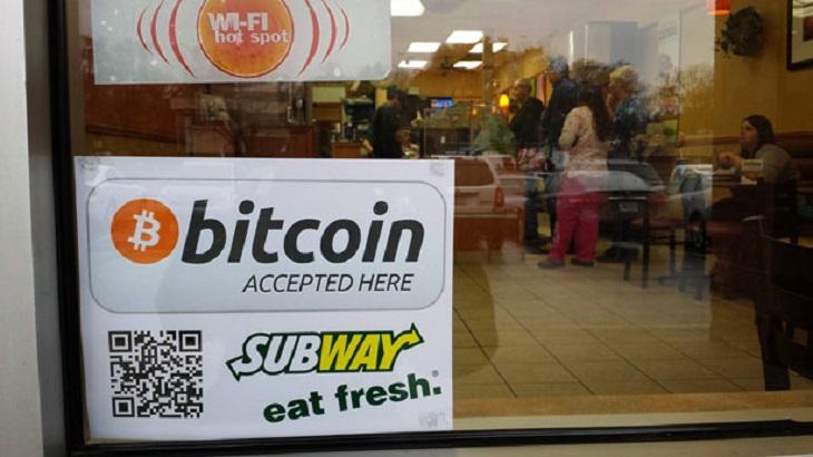 Một cửa hàng chấp nhận Bitcoin ở nước ngoài
