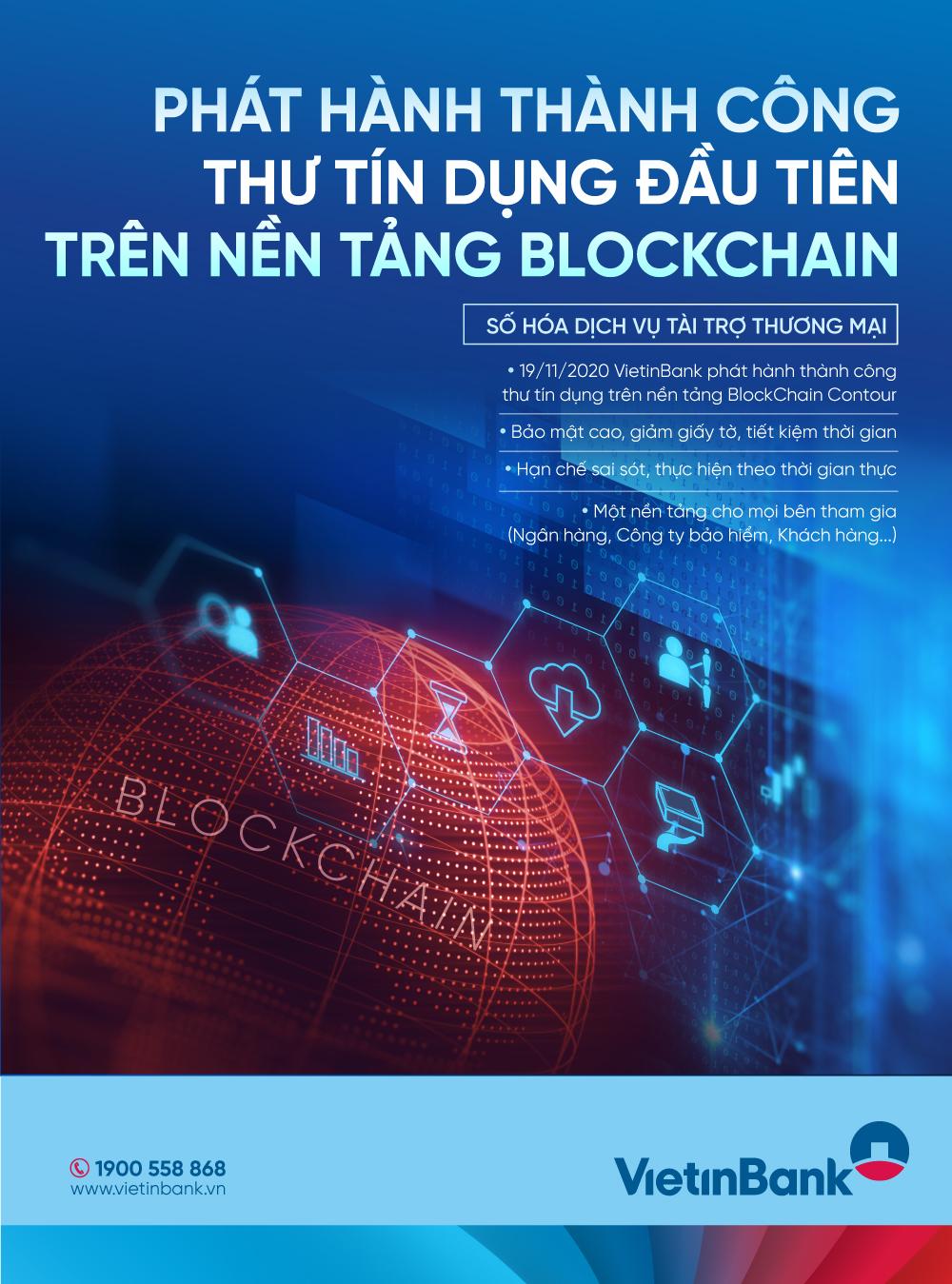 VietinBank phát hành thành công L C đầu tiên ứng dụng công nghệ Blockchain