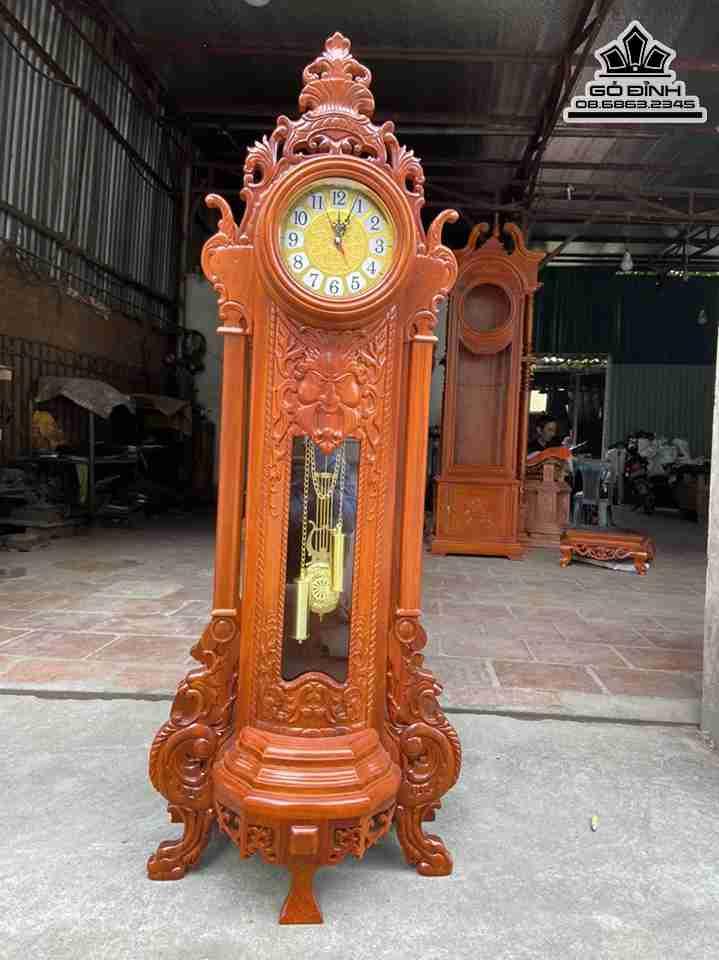 Đồng hồ quả lắc gỗ Gõ Đỏ