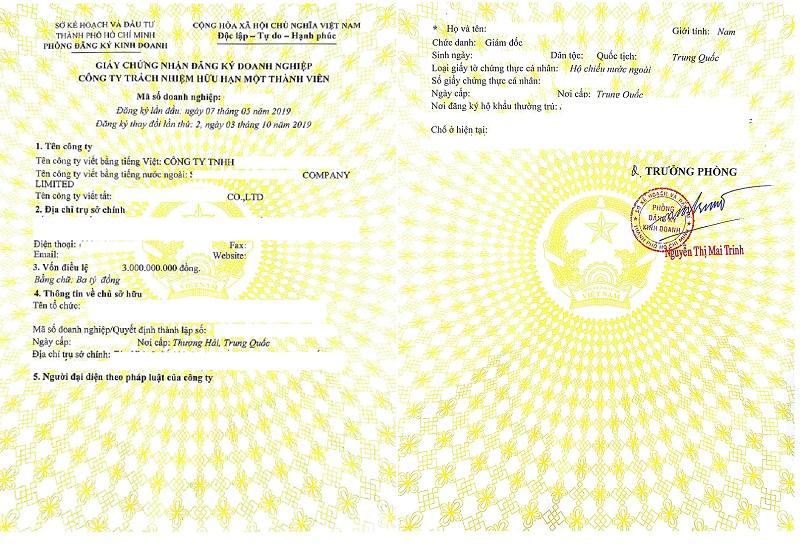 Thông tin giấy chứng nhận đăng ký kinh doanh (Nguồn: https://thienluatphat.vn/)