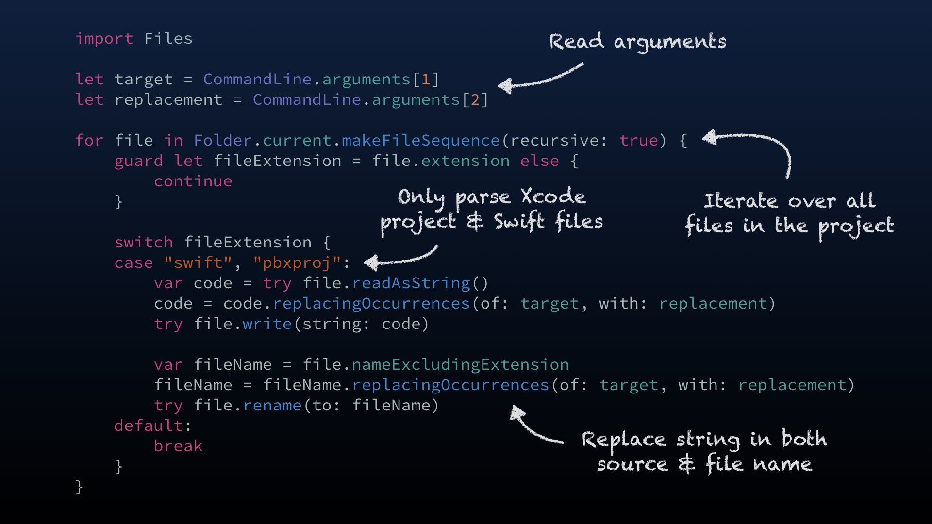 """John Sundell on Twitter: """"Replace the """"Can't refactor Swift code"""" dialog in  Xcode with a simple renaming Swift script in 4 easy steps! 😀  https://t.co/a37AOHMOof… https://t.co/0OlgK0rKss"""""""